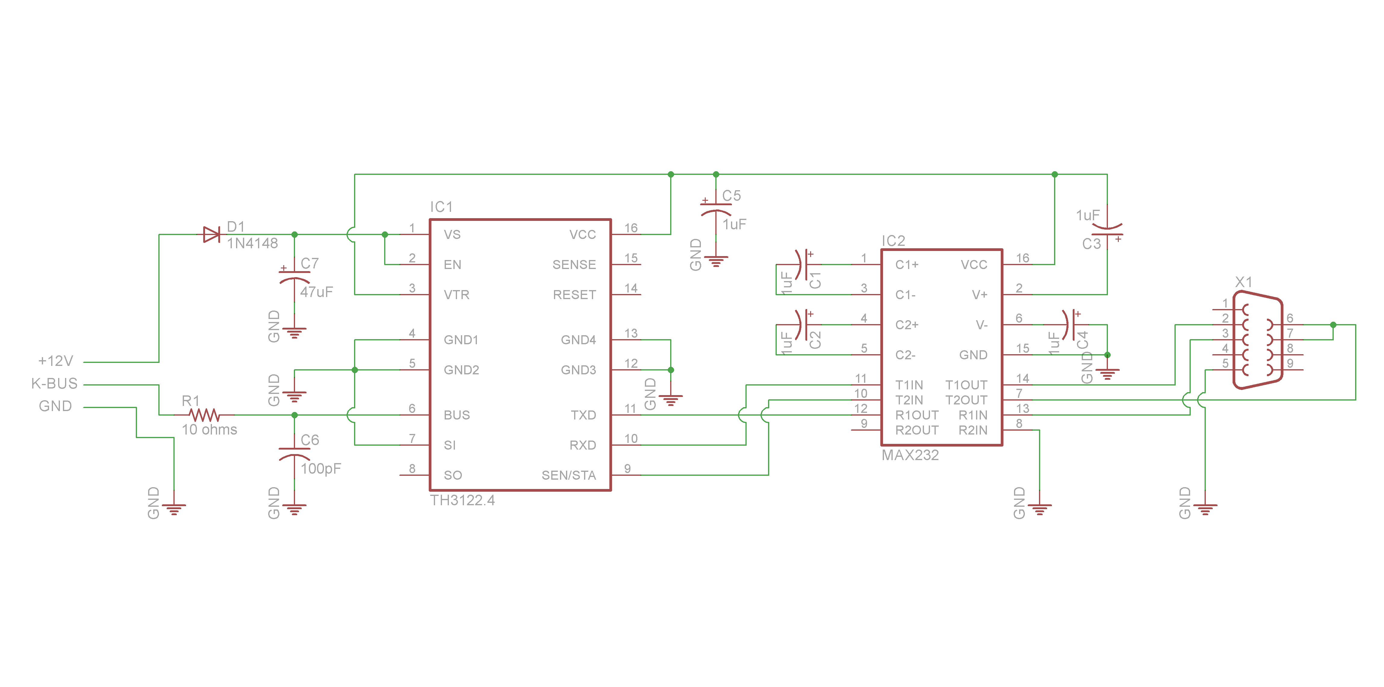 Schematic TH3122 To RS232