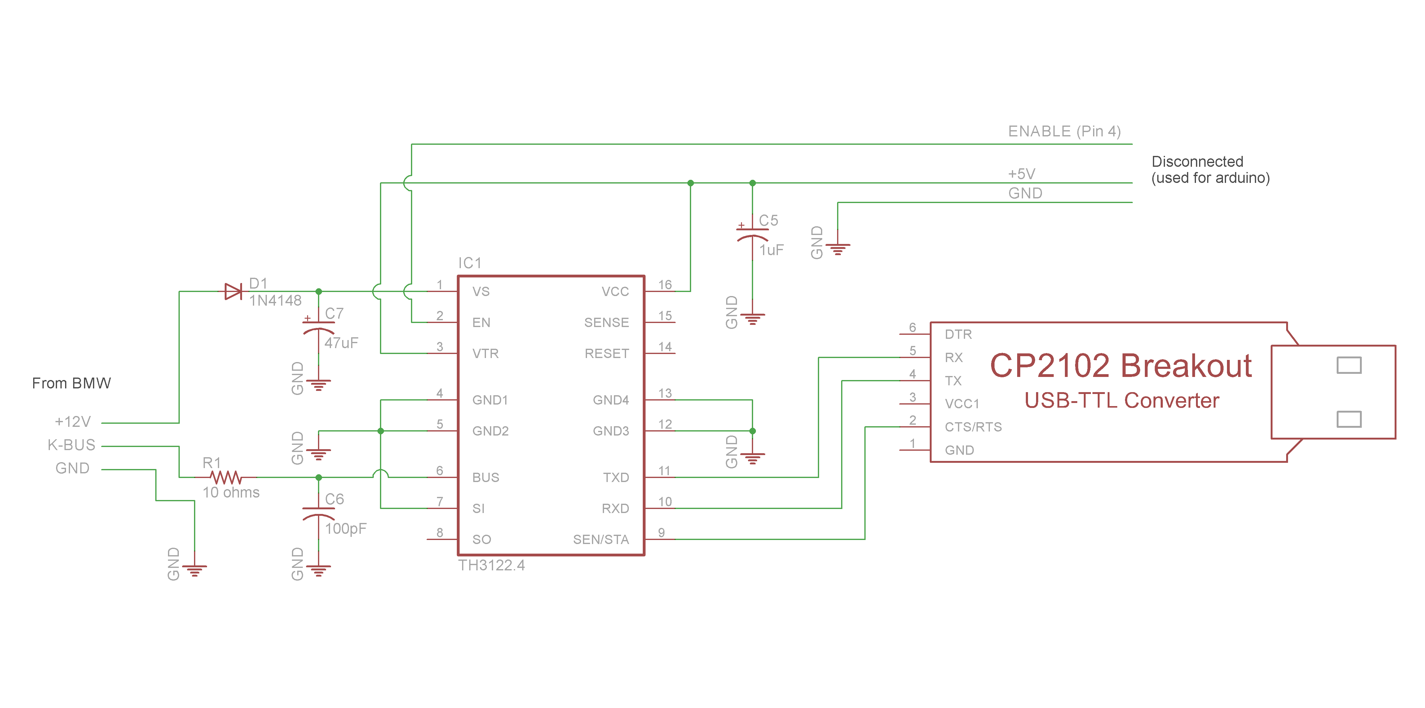 Schematic TH3122 To USB TTL
